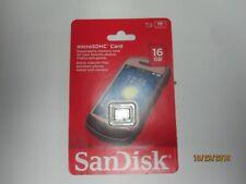 New ScanDisk MicroSDHC CARD 16GB Micro SDHC 16GB HDVID SDSDQ-016G-A46 AL