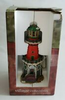 2001 Lemax Village Collectibles Cape  McCoy Lighthouse W/ ROTATING BEAM