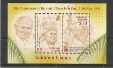 BRITISH SOLOMON IS's 2004 POPE JOHN PAUL M/SHEET SG,MS1056 U/M NH LOT 2889A