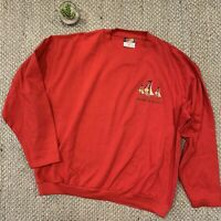 VTG Davidson's Of Bermuda Blues Embroidered Red Sailing Sweatshirt Adult XL