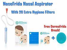 NoseFrida 3 in 1 Nasal Aspirator Fridababy 24 Extra Hygiene Filters Bath Brush