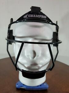 Champro Defensive Fielders Face Mask Shield Grill, Girls Softball - Black