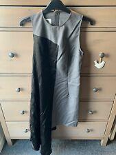 Maison Martin Margiela Black Silk & Grey Shift Dress Uk 6 BN