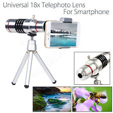 18X Zoom Optical Telescope Camera Telephoto Lens W/ Tripod Holder For Smartphone