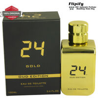 24 Gold Oud Edition Cologne 3.4 oz EDT Spray for MEN by ScentStory