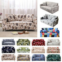 1/2/3/4 Seater Sofa Couch Covers Polyester Elastic Furniture Protector Slipcover