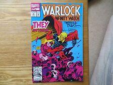 1992 WARLOCK & THE INFINITY WATCH # 4 SIGNED 3X JIM STARLIN, AUSTIN, LEONARD POA