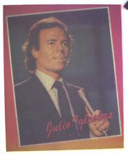 JULIO IGLESIAS T SHIRT IRON-ON HEAT TRANSFER VINTAGE FAN CLUB LATIN SPANISH STAR