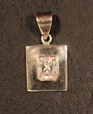 Stone Sterling Silver Slide Pendant 925 Pendant Silpada 925 Cubic Zirconia Clear