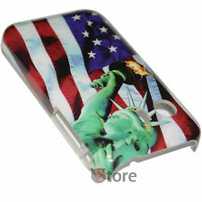 Cover Schutzhülle Flag Amerika New York für Samsung Galaxy Y S5360 Starre