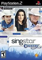 PS2 Singstar Country Video Game Karaoke NTSC T428