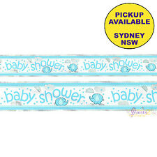 BLUE ELEPHANT UMBRELLA BOY BABY SHOWER PARTY SUPPLIES FOIL BANNER DECORATIONS