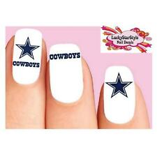 Waterslide Nail Decals Set of 20 - Dallas Cowboys Football Assorted