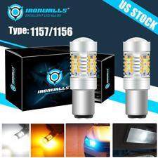 Ultra Bright 1157 1156 Led Amber White Turn Signal Parking Light Bulb 6000k 3000