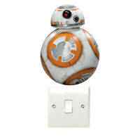 BB-8 Light Switch Wall Art Stickers Star Wars Luke Skywalker Jedi Darth Vader