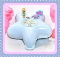 ❤️Polly Pocket Vtg 1992 Fashion Fun Star COMPLETE Compact Doll Hats Bluebird❤️