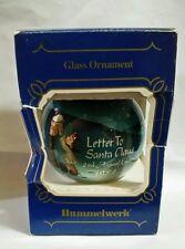 """Goebel Hummelwerk """"Letter To Santa Claus"""" 1984  Glass Ornament"""