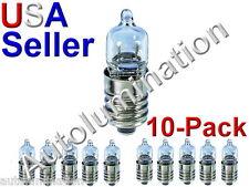 10pc E10 Screw Base T10 Bulb Lamp Flashlight 12V 10W Krypton Halogen 28mm