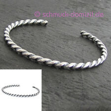 NEU - Trollbeads Silber Armspange GEDREHT Gr. S = Armbandlänge 20 - 21 cm