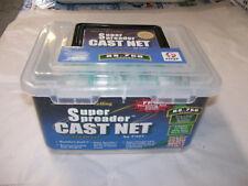 "Fitec 11030 RS-750 Super Spreader Cast Net 3 foot Radius w/1/4"" White Nylon Mesh"