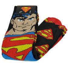 DC Comics Superman Super Hero 2 Pairs Long Socks Mens Shoe Size 6-12 Warner Bros