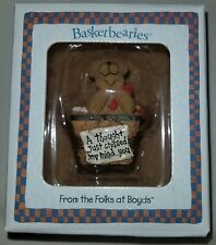 "Boyd's Bears Basketbearies Carey ""A Thought Just Crossed My Mind.You"" Figurine"