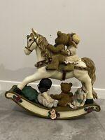 vintage Teddy Bear On rocking horse
