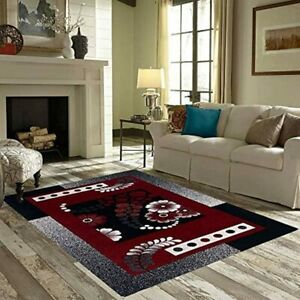 Floral Print Chenille Carpet With Tassels Best for Living Room,Kitchen (4.5X7ft)