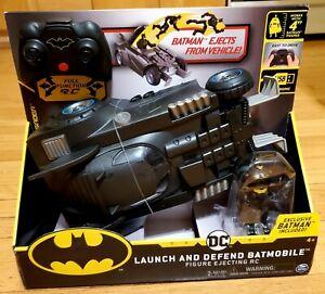 "Batmobile Remote Control Vehicle Batman Launch and Defend 4"" Batman Figure New"