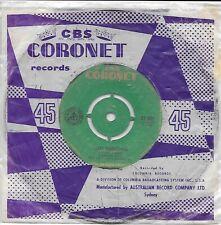 "JOHNNIE RAY - TEXAS TAMBOURINE - RARE AUST. 7"" 45 VINYL RECORD w POLY SLV - 1958"
