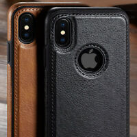 For iPhone XR/XS MAX/8/7 Plus Slim Luxury Leather Ultra Thin TPU Skin Case Cover