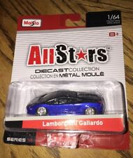 Maisto Allstars Diecast Collection 1/64 Blue Black Lamborghini Gallardo Series