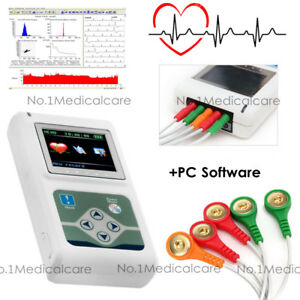 CONTEC 3 Channel 24H Holter ECG/EKG Monitor Recorder Pacemaker Analyzer Software