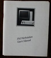 Televideo Computer PM Workstation User's Manual ( Personal Mini Computer) 1984