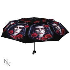 James Ryman Telescopic Umbrella featuring Sugar Skull design