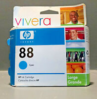 HP 88 Ink Cartridge HP88 Cyan Ink (C9391AN) - GENUINE HP & FREE SHIPPING