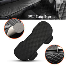 PU Leather Car Rear Back Row Seat Cover Cushion Pad Mat Protector Non-slip Black
