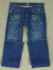 Womens 7 For All Mankind Jeans 28 X 32 Bling Bootcut EUC Pre-owned Seven