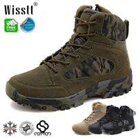 New Men's Military Tactical Ankle Boots Cordura Desert Combat Army Hiking Shoes