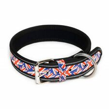 Julius-K9 Dog Puppy Strong Nylon Collar Soft Strong Adjustable Union Jack Flag