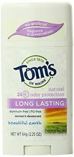 2 Pack Tom's of Maine Natural Long Lasting Deodorant Beautiful Earth 2.25oz Each
