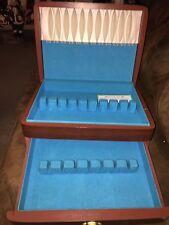 International Silver Co Drawer Silverware Box Tarnish Proof Tif Blue Lining