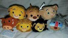 Disney Authentic The Lion King Tsum Tsum Set of 7 Mini Usa New Simba/nala/timon