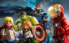 LEGO SUPERHEROES POSTER - AVENGERS A4 260GSM