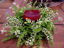 EUCALYPTUS CANDLE RING~EUCALYPTUS AND BERRIES CANDLE RING~CREAM BERRIES