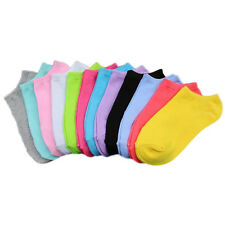 Women Cute Socks 10 Pairs solid candy color Ankle Crew Flexible Sports Socks hot