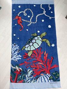 Vera Bradley Beach Towel Seascape Anchors Aweigh Sea Turtle New