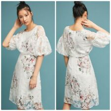 Anthropologie Womens Size 12 Tracy Reese Guiana Neutral Lace Floral Dress $188