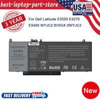 "Battery for Dell Latitude E5450 E5550 Notebook 15.6"" G5M10 51Whr P/N 8V5GX R9XM9"