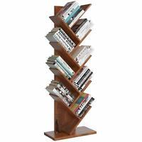 9-Shelf Decor Tree Shape Bookshelf Bookcase Rack Display Storage Organizer Brown